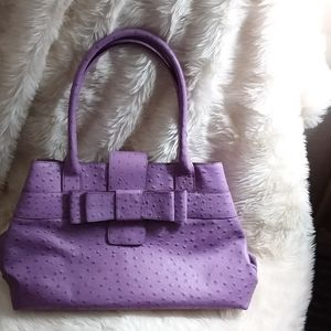 Kate Spade purple  purse with bow in front